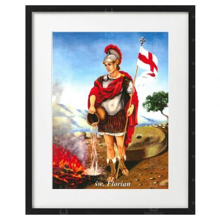 Święty Floriam - obraz na płótnie w ramie