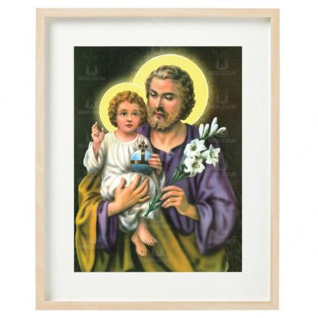 Święty Józef 02 - obraz na płótnie w ramie