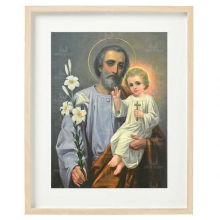 Święty Józef 03 - obraz na płótnie w ramie