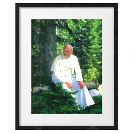 Święty Jan Paweł II  - obraz na płótnie w ramie
