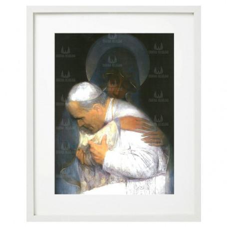 Św. Jan Paweł II - obraz na płótnie w ramie