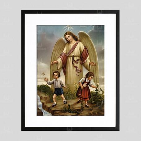 Anioł Stróż 4 - obraz na płótnie w ramie