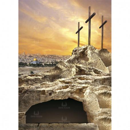 Baner, dekoracja kościoła - Tło do Grobu Pańskiego wzór 39