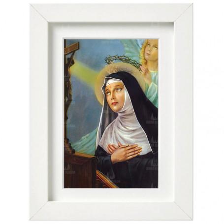 Obraz na płótnie w ramie Święta Rita wzór 1