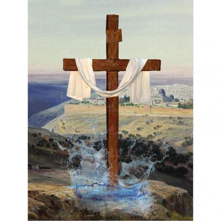 Dekoracja kościoła - Tło do Grobu Pańskiego wzór 5