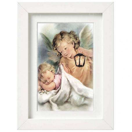 Anioł Stróż z latarnią - obraz na płótnie w ramie wzór 02
