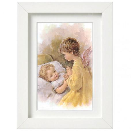 Obraz na płótnie w ramie Anioł Stróż wzór 23