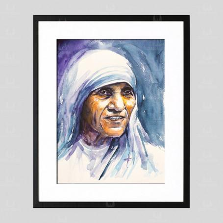 Święta Matka Teresa z Kalkuty - obraz na płótnie w ramie