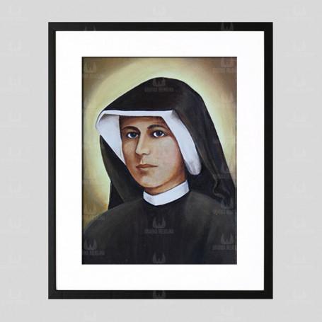 Święta s. Faustyna - obraz na płótnie w ramie