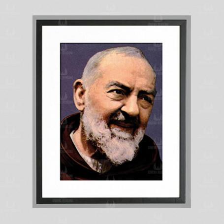 Święty o Pio - obraz na płótnie w ramie
